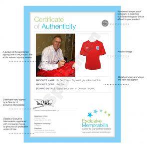 Sir Geoff Hurst Signed England Football Shirt
