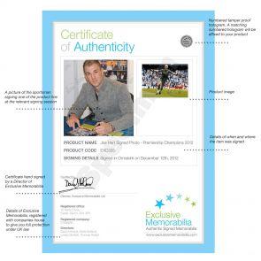 Joe Hart Signed Manchester City Photograph: Champions!