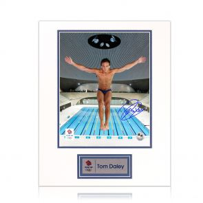 Signed Tom Daley Photograph