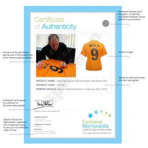 Steve Bull Signed Wolverhampton Wanderers Football Shirt