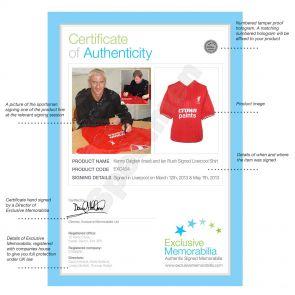 Kenny Dalglish & Ian Rush Signed Liverpool Football Shirt