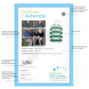 Celtic Shirt Signed By The 'Lisbon Lions'