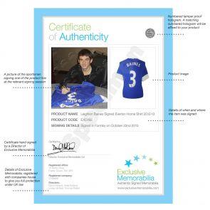 Leighton Baines Signed 2012-13 Everton Shirt