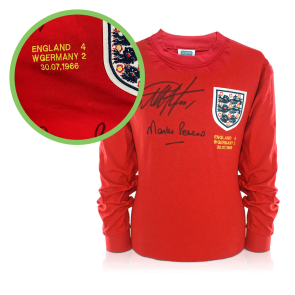 Signed Hurst And Peters England Shirt