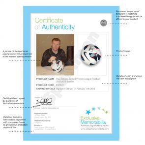 Paul Scholes Signed Premier League Football 2012-13 Season