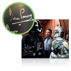 Boba Fett And Darth Vader Signed Star Wars Photo. Damaged A