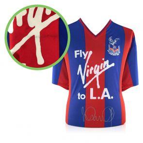 Ian Wright Signed Crystal Palace 1990 FA Cup Shirt - Damaged Stock