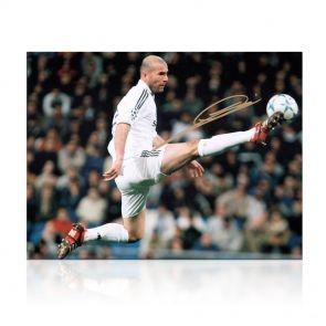 Signed Zidane Real Madrid Photo