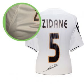 Zinedine Zidane Signed Real Madrid 2003-04 Football Shirt - Damaged Stock C