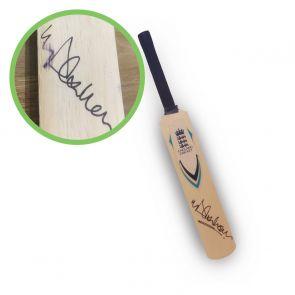 Michael Vaughan Signed England Mini Cricket Bat. Damaged F