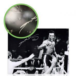 Sugar Ray Leonard Signed Boxing Photograph: Victory! Damaged A