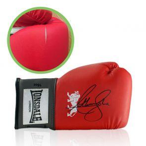 Anthony Joshua Signed Red Boxing Glove - Damaged Stock D