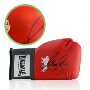 Anthony Joshua Signed Red Boxing Glove - Damaged Stock I
