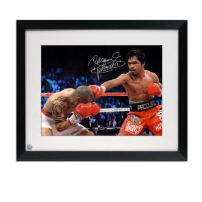 Manny Pacquiao Signed Boxing Photo