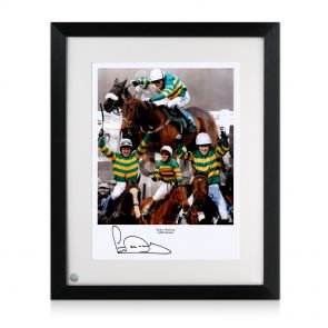 AP McCoy signed and framed horse racing photo