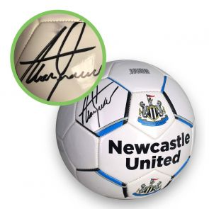 Alan Shearer Signed Newcastle United Football - Smudged Stock A