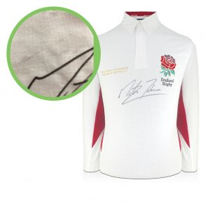 Martin Johnson Signed England Rugby Shirt - Damaged Stock A