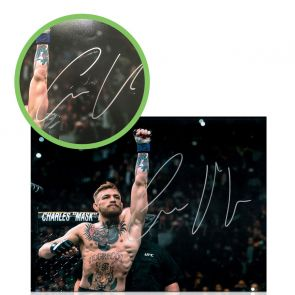 Conor McGregor Signed Photo: Undisputed UFC Featherweight Champion. Damaged D