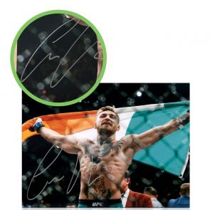 Conor McGregor Signed Photo: UFC 194 Victory. Damaged G