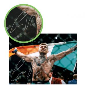 Conor McGregor Signed Photo: UFC 194 Victory. Damaged H