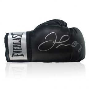 Floyd Mayweather Signed Black Boxing Glove In Display Case
