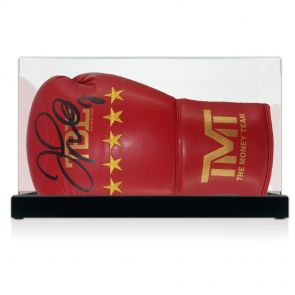 Floyd Mayweather Signed Boxing Glove In Display Case