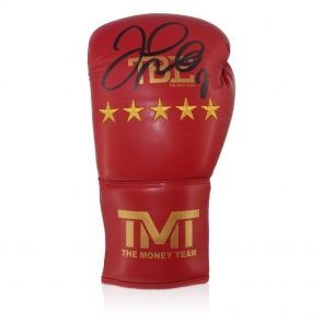 Floyd Mayweather Signed TMT Boxing Glove In Display Case