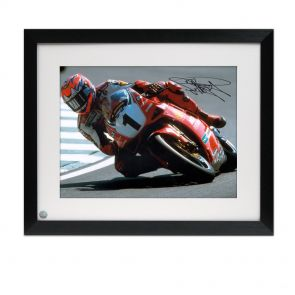 Signed Carl Fogarty Photo Framed
