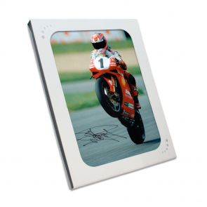 Carl Fogarty Signed Superbikes Photo: Victory Wheelie