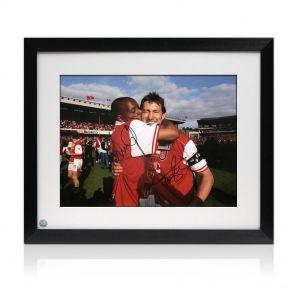 Framed Ian Wright & Tony Adams Signed Photo