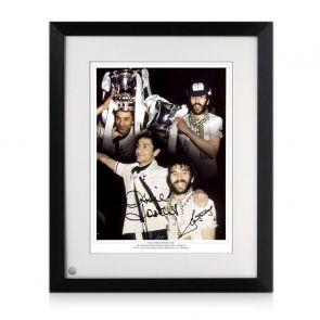 Ricky Villa And Ossie Ardiles Signed Tottenham Hotspur Photo. Framed