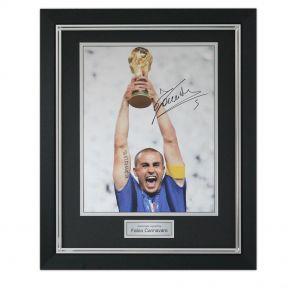 Signed and framed Cannavaro photo