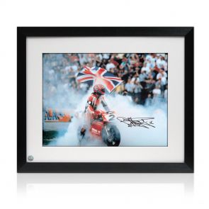 Framed signed Carl Fogarty Photo: Foggy