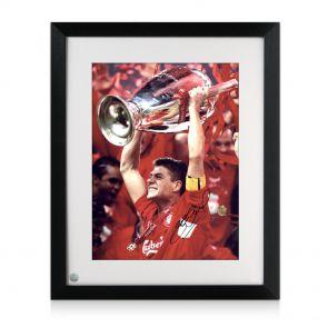 Gerrard Lifting Champions League photo, framed