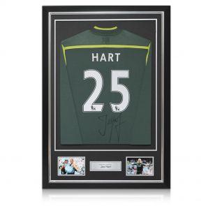 Signed and framed Joe Hart shirt