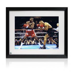 Frank Bruno v Mike Tyson Framed Signed Photo