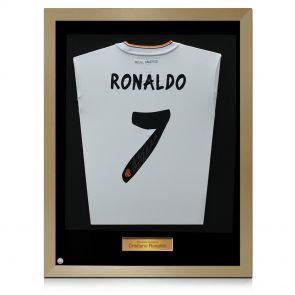 Framed Signed Ronaldo Shirt