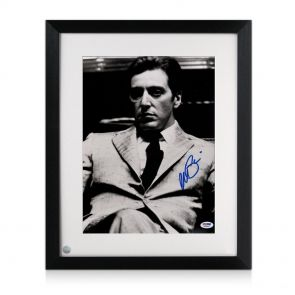 Framed Al Pacino signed Godfather photo