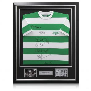 Signed and framed Lisbon Lions shirt