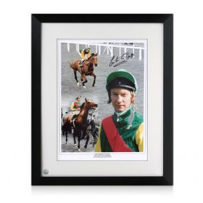 Signed And Framed Lester Piggott Horse Racing Photo: Nijinsky
