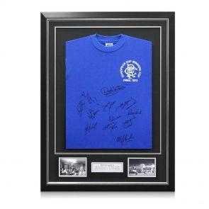 Signed and framed Rangers 1972 shirt