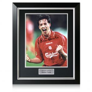 Deluxe Framed Robbie Fowler Signed Photo