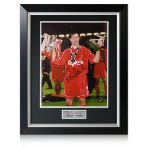 Deluxe Framed Robbie Fowler Signed Picture