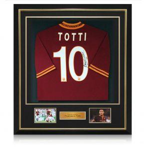 Deluxe Framed Francesco Totti Signed AS Roma Football Shirt