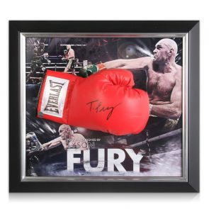 Framed Tyson Fury Signed Boxing Glove