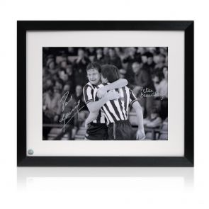 Paul Gascoigne and Peter Beardsley Signed Framed Newcastle United Photo