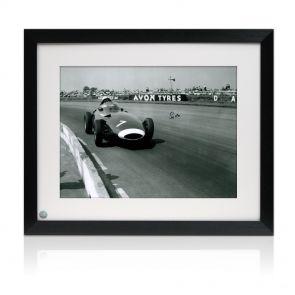 Stirling Moss Signed Framed Formula One Photo