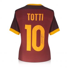 Francesco Totti Signed AS Roma Authentic Football Shirt 2015-16. In Gift Box