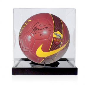 Francesco Totti Signed Football In Display Case