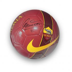 Francesco Totti Signed AS Roma Football In Display Case